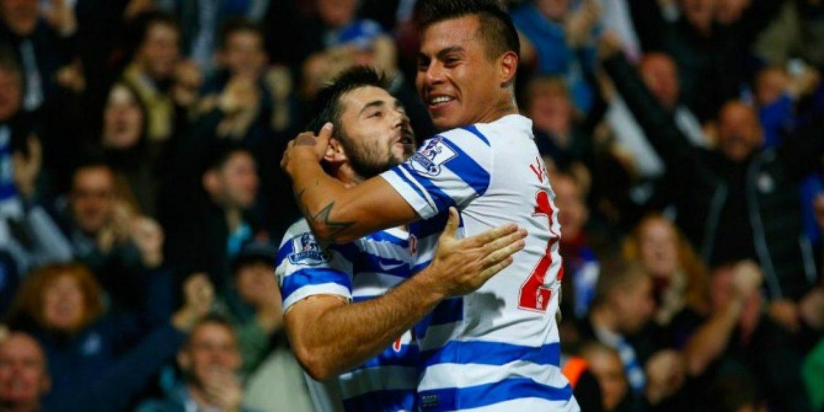 Fue clave: Vargas aportó con una asistencia para romper la mala racha de QPR
