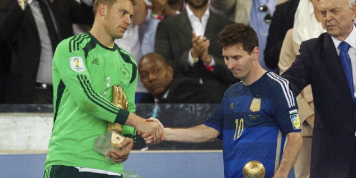 Blatter reconoce que fue un error entregarle el Balón de Oro del Mundial a Messi