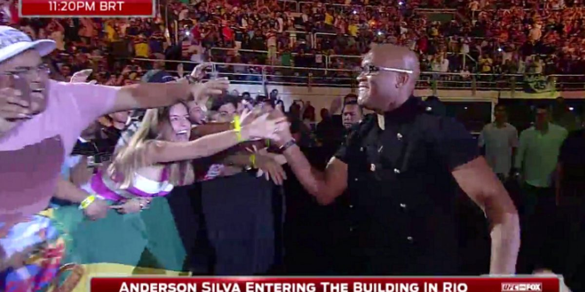 Video: Anderson Silva reapareció en un evento de MMA tras un año de ausencia