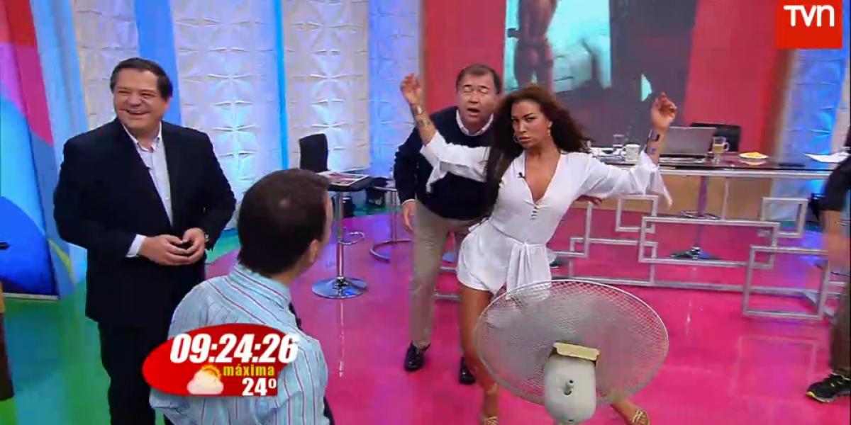 Mauricio Bustamante no se salvó de la sensualidad de Olivarí
