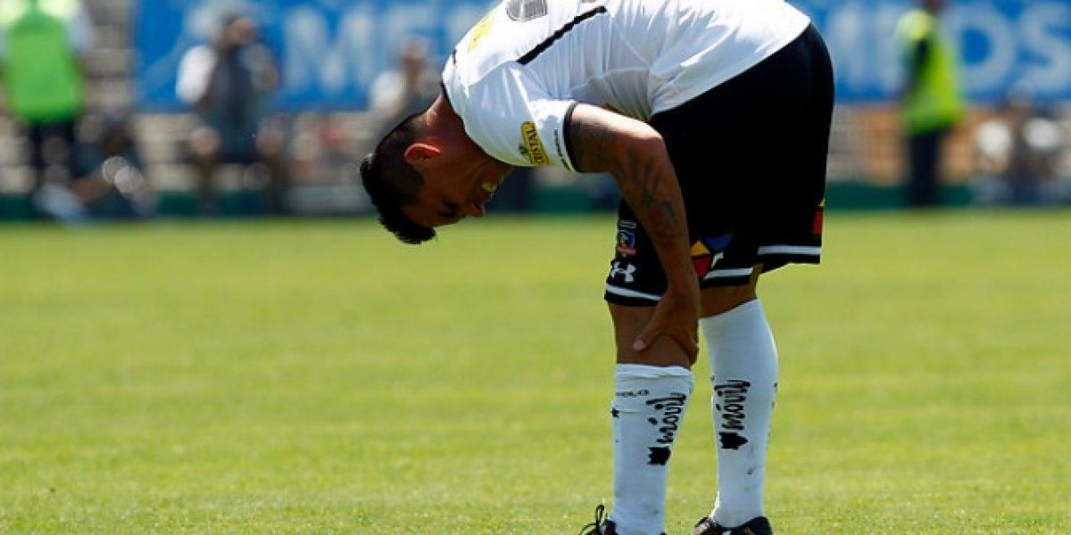 Esteban Paredes abandonó antes de tiempo la práctica de Colo Colo