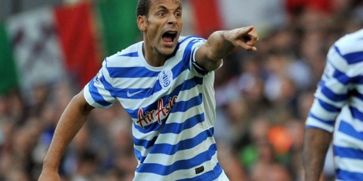 ¡Insólito! Ferdinand fue castigado con tres partidos por un insulto en Twitter