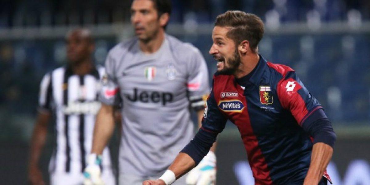 El Genoa de Pinilla venció en la agonía a la Juventus de Vidal y le quitó el invicto en Serie A