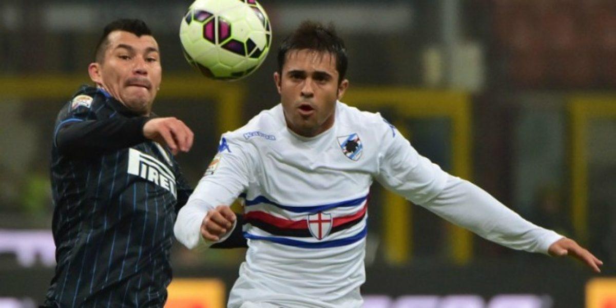 El Inter de Gary celebró un tirunfo en el último suspiro ante Sampdoria