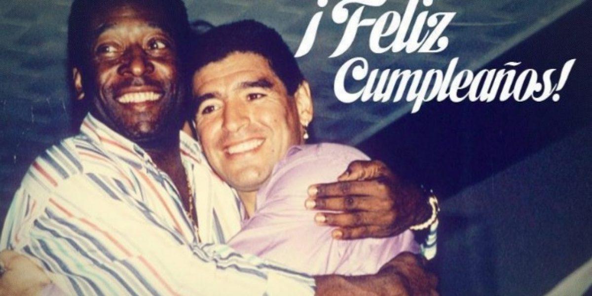 Santos saludó a Maradona en su cumpleaños con un mensaje lleno de ironía