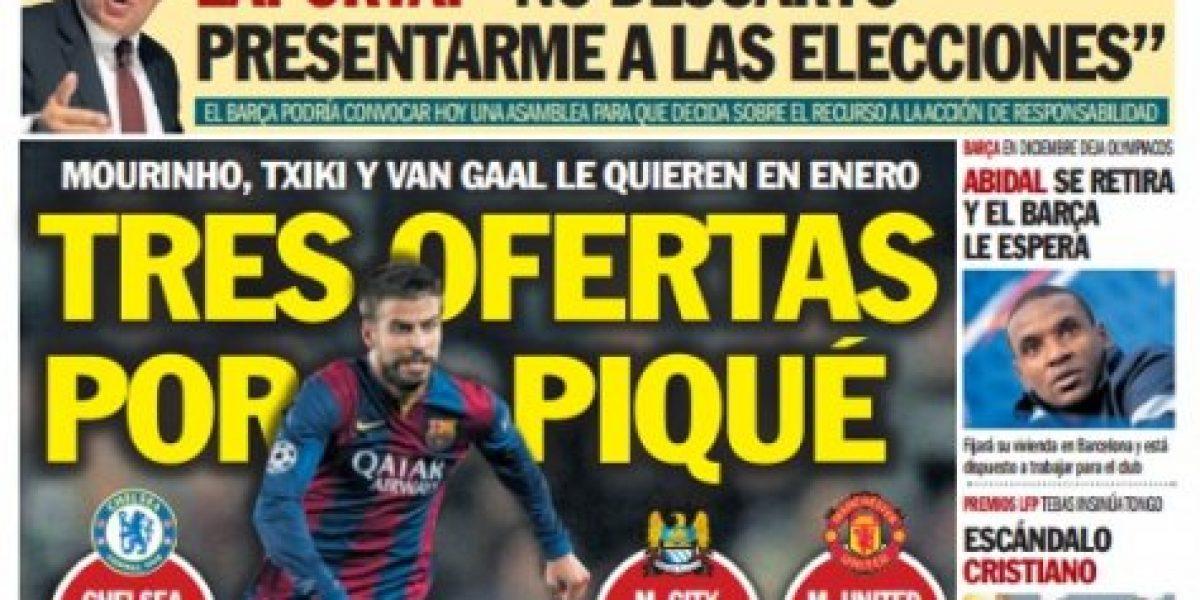 Tres clubes de Inglaterra habrían presentado millonarias ofertas por Gerard Piqué