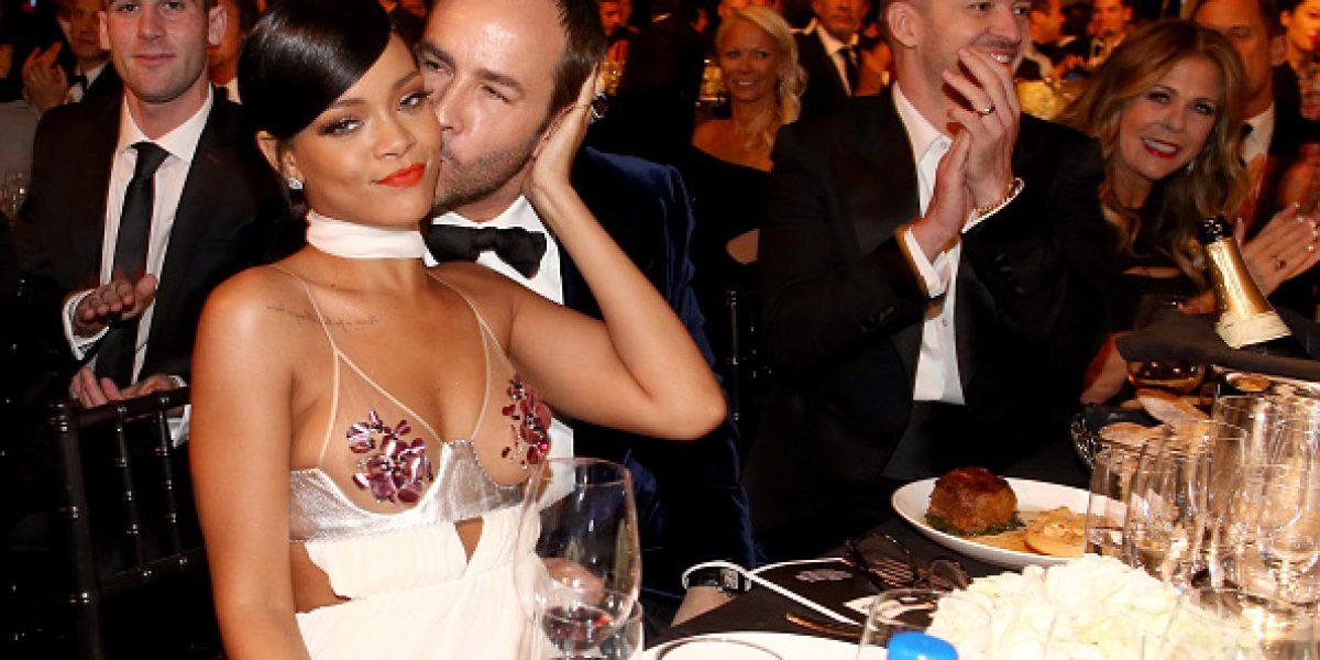 Los osados vestidos de Rihanna y Miley Cyrus en los amfAR 2014