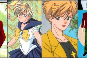 Haruka Tenou es Sailor Uranus. Se viste como hombre y gusta de los deportes atléticos. Tiene una relación romántica con Sailor Neptuno e incluso besó a Usagi Tsukino, Sailor Moon. Foto:Clamp. Imagen Por: