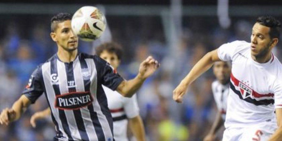 Como la UC: Emelec batalló, estuvo cerca, pero no pudo ante Sao Paulo por la Sudamericana
