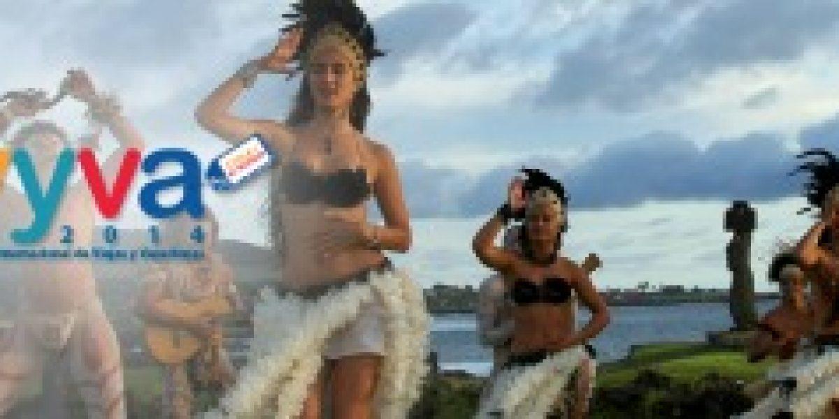 Bellas pascuenses se toman Providencia en lanzamiento de feria de turismo VYVA 2014