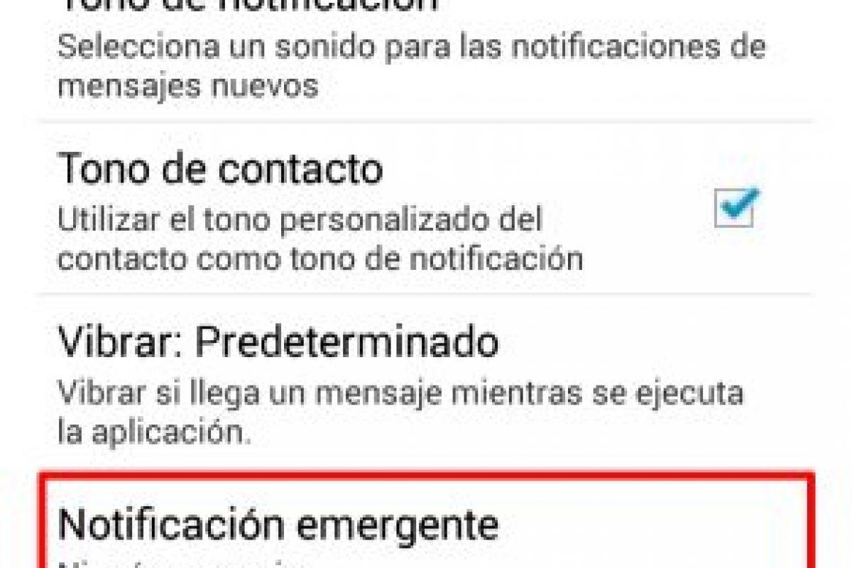 Dar clic en Notificaciones Emergentes Foto:Publimetro. Imagen Por: