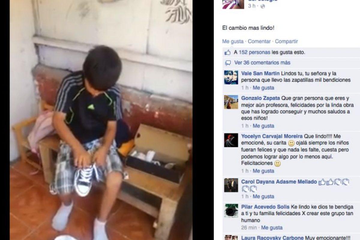 Así fue la reacción de las personas en la red social ante el regalo recibido por el menor Foto:Facebook. Imagen Por: