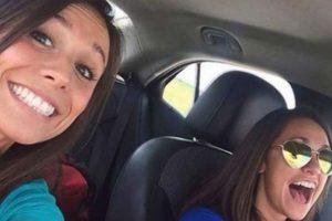 Collette Moreno se tomó un selfie con su amiga. Iban camino a su despedida de soltera. Chocaron contra otro auto y ella murió. Foto:Captura de pantalla Youtube. Imagen Por: