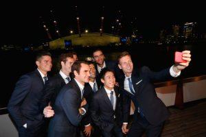 Así lucía el selfie de Berdych desde otro punto de vista. Foto:Getty Images. Imagen Por: