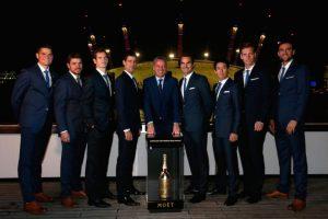Los ocho grandes del tenis con Chris Kermode, presidente de la ATP. Foto:Getty Images. Imagen Por:
