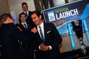 La ceremonia de la foto oficialFederer siempe de buen humor. Foto:Getty Images. Imagen Por: