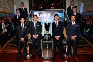 Los tenistas junto al trofeo. Foto:Getty Images. Imagen Por: