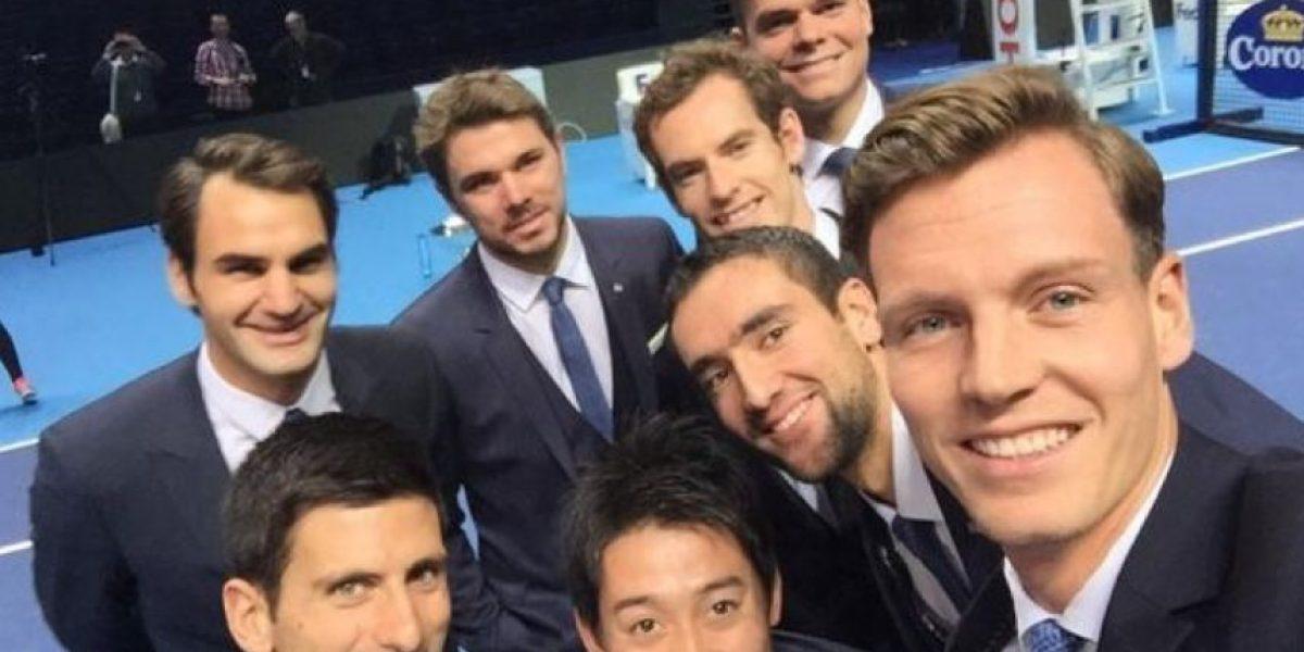 FOTOS: De esta forma se divierten los ocho mejores tenistas del mundo