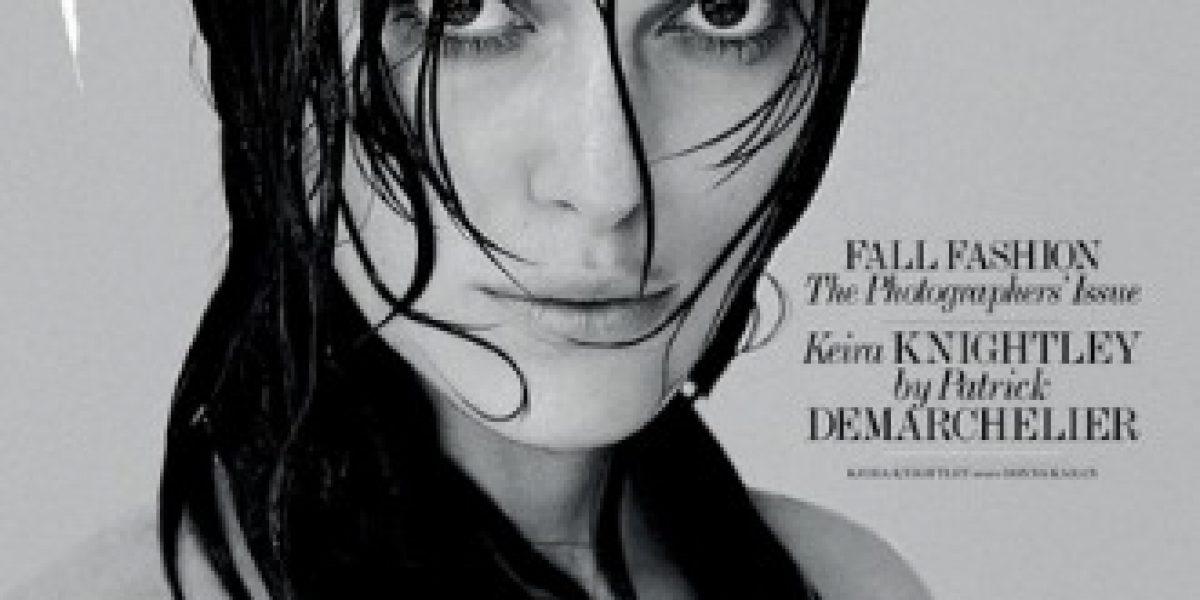 Keira Knightley posó en topless para protestar contra el Photoshop