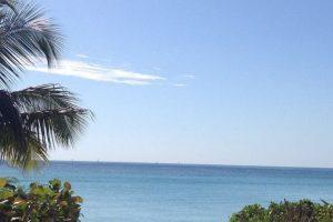 La paradisiaca vista que tienen las dos amigas del Caribe. Foto:instagram.com/carowozniacki. Imagen Por: