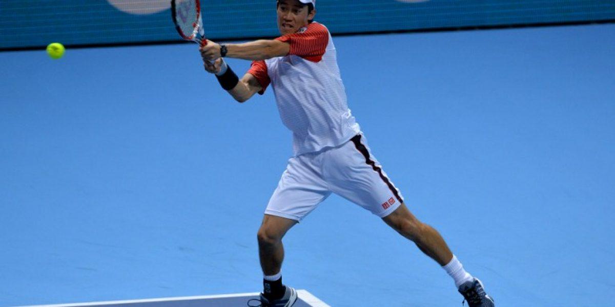 Kei Nishokori se estrenó con un triunfo sobre Murray en el Masters de Londres