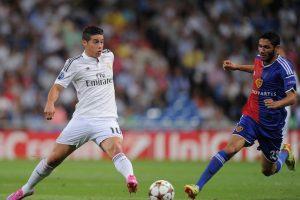 James contra el Basel en la UEFA Champions League. Foto:Getty Images. Imagen Por: