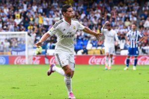 Rodríguez enfrentando al Deportivo La Coruña. Foto:Getty Images. Imagen Por: