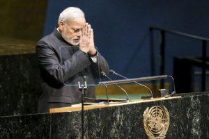 Durante su discurso en las Naciones Unidas. Foto:Getty Images. Imagen Por: