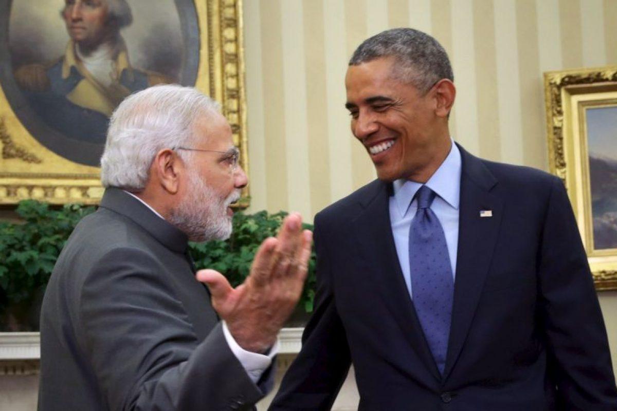 Modi visitó Estados Unidos. Aquí con el presidente Barack Obama. Foto:Getty Images. Imagen Por: