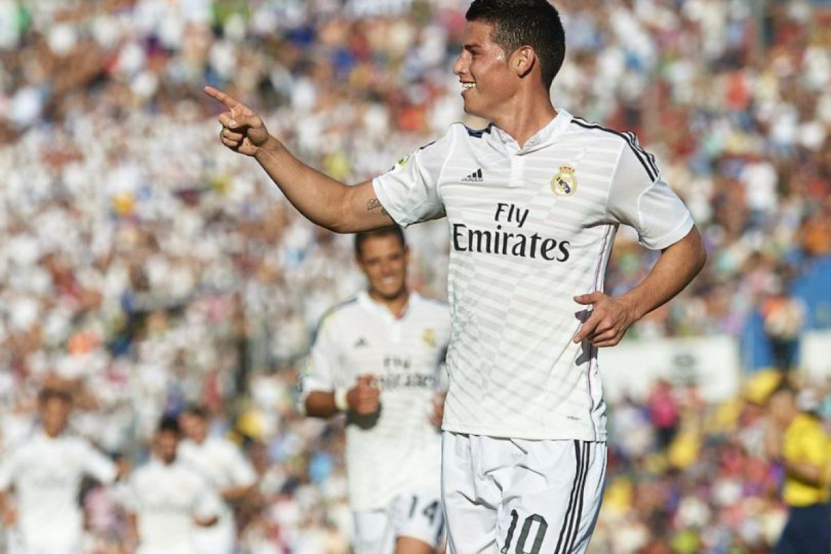 Rodríguez celebra su anotación ante el Levante. Foto:Getty Images. Imagen Por: