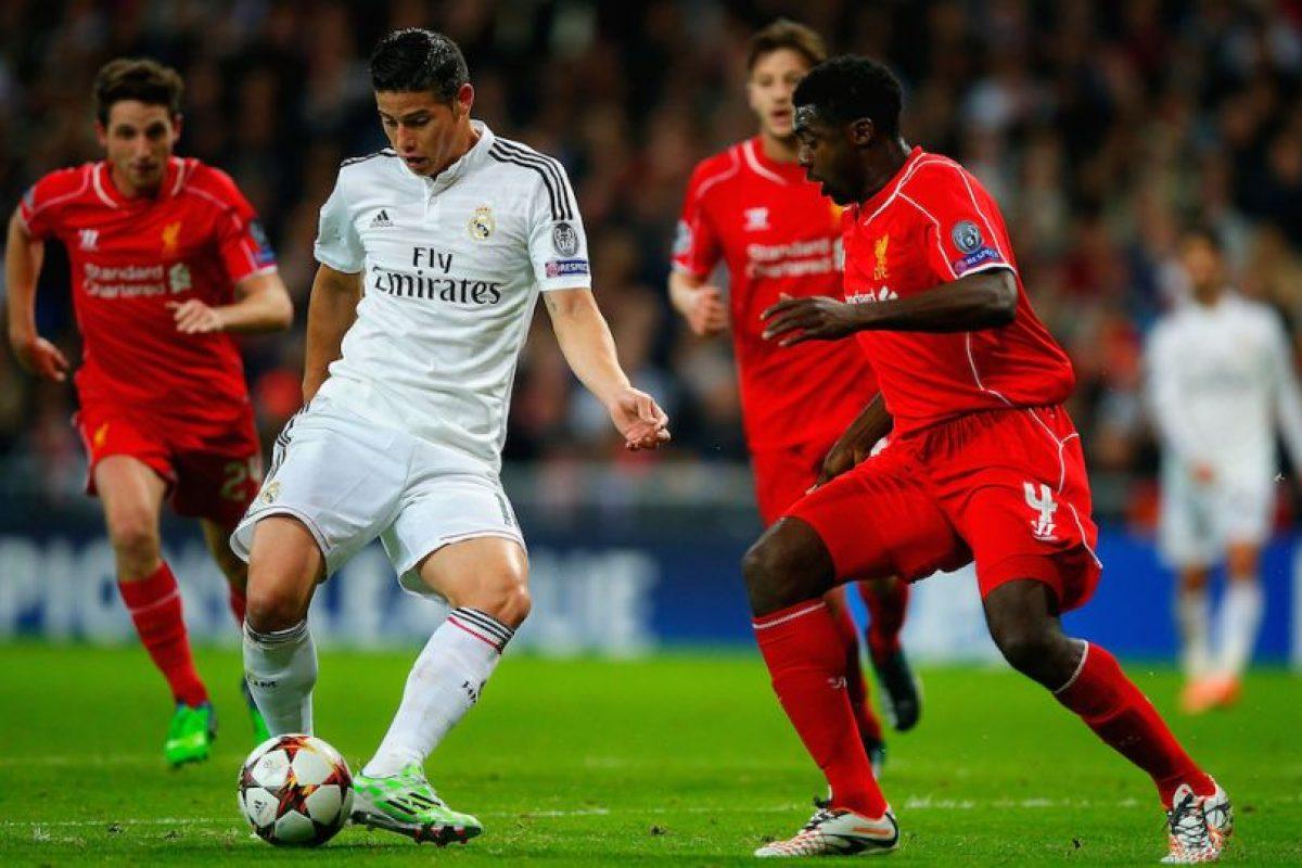 James Rodríguez en el partido ante el Liverpool. Foto:Getty Images. Imagen Por: