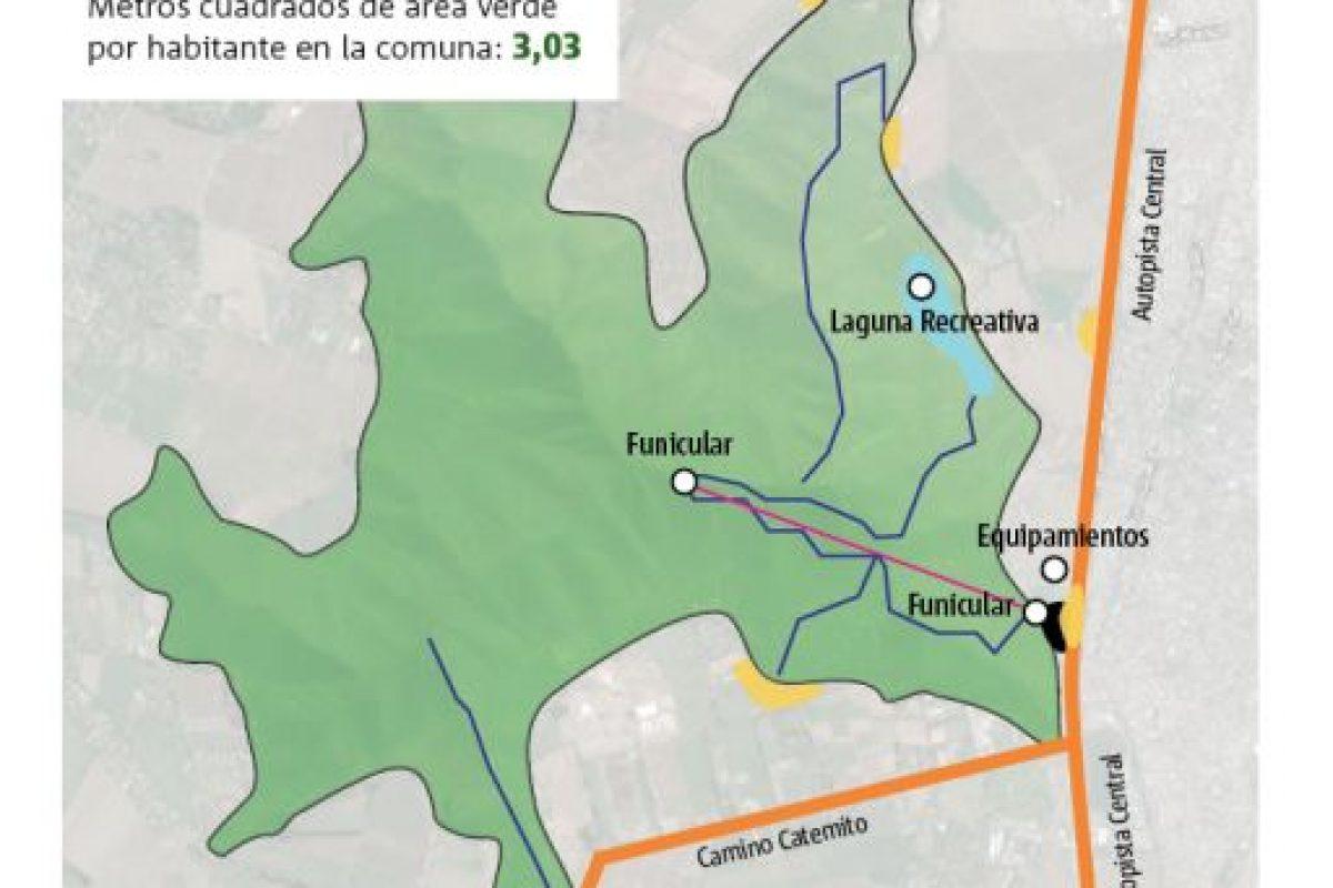 Infografía del Cerro Chena Foto:Luis Saenz. Imagen Por: