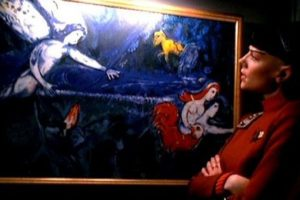 """""""Adam and Eve expelled from Paradise"""" de Marc Chagall en Star Trek VI: The Undiscovered Country de 1991. Foto:Paramount Pictures. Imagen Por:"""