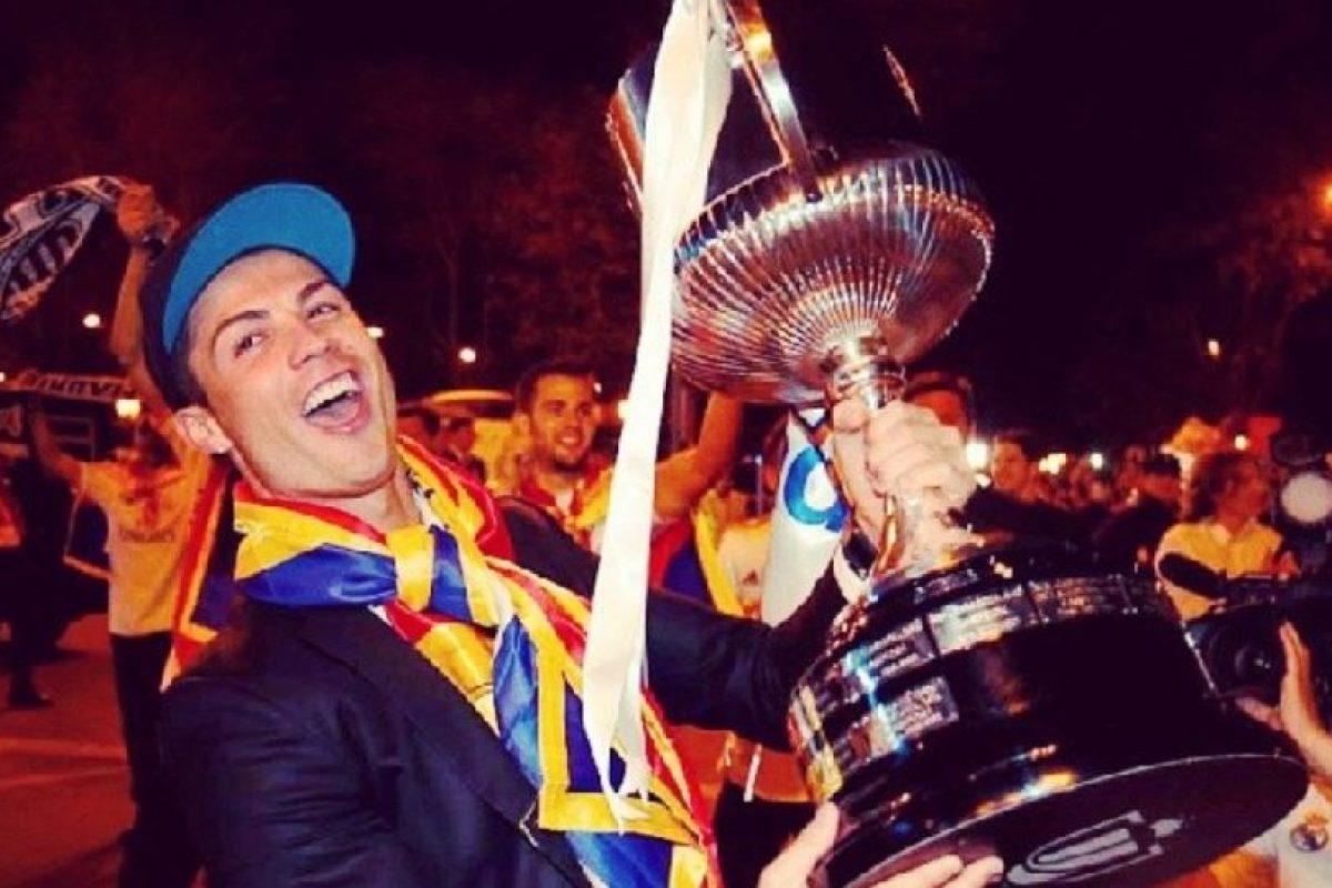 Copa del Rey con el Real Madrid ante el Atlético de Madrid. Foto:¡nstagram.com/cristiano. Imagen Por: