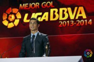 Mejor gol de la Liga BBVA 2013-2014. Foto:twitter.com/LaLiga. Imagen Por: