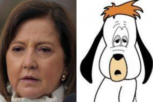 """La senadora DC Soledad Alvear es frecuentemente relacionada con el personaje animado """"Droopy"""". Foto:Agencia Uno /Reproducción. Imagen Por:"""