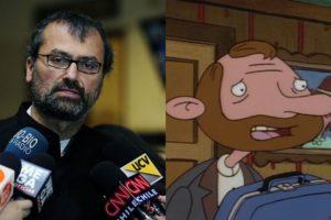 """El diputado DC Patricio Vallespín tiene un look similar al del personaje de la serie animada """"Hey Arnold"""", Oskar Kokoshka"""". Foto:Agencia Uno /Reproducción. Imagen Por:"""