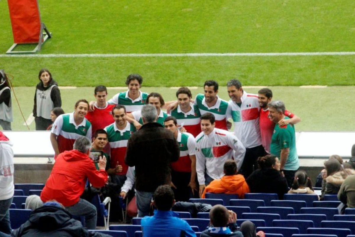 El equipo mexicano de Waterpolo en el Espanyo vs. Villareal. Foto:Ramón Mompió. Imagen Por: