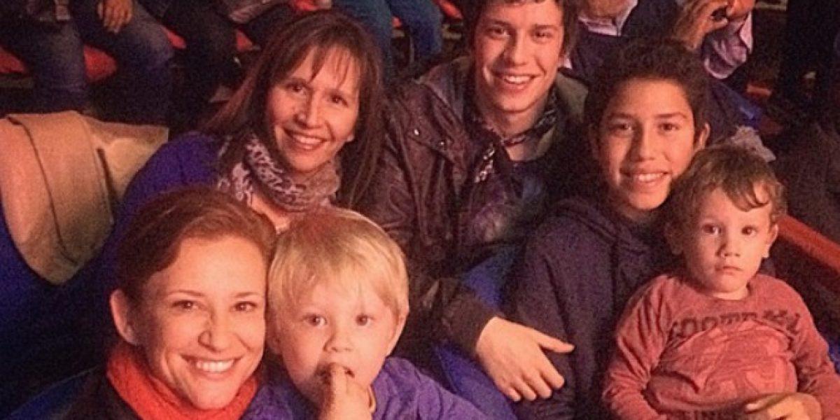 Alonso Quintero y Sigrid Alegría comparten panorama en familia