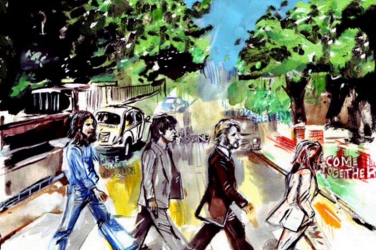 Abbey Road con un toque artístico Foto:Facebook/The Beatles. Imagen Por: