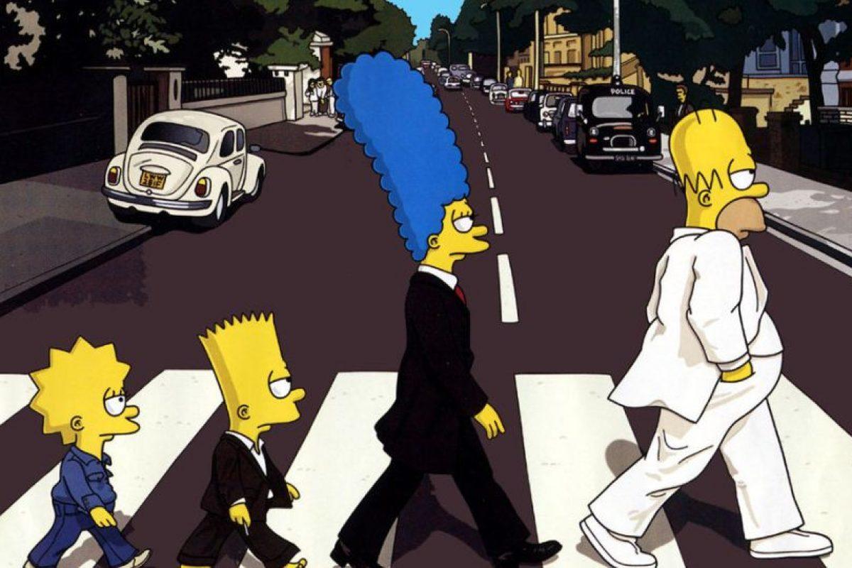 """Abbey Road con """"Los Simpson"""" Foto:Twitter. Imagen Por:"""