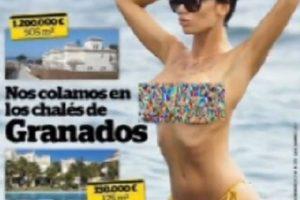 La modelo serbia se dejó ver en topless Foto:Facebook: Interviú. Imagen Por: