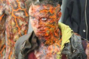 Aquí podemos ver a Daniel en su trasnformación a un terrorífico ser. Foto:Google+ /Daniel Radcliffe. Imagen Por: