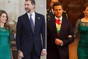 ABC critica el estilo de Angélica Rivera, la acusan de copiar a la reina Letizia. Pero ese no fue su único vestido criticado. Foto:Twitter. Imagen Por: