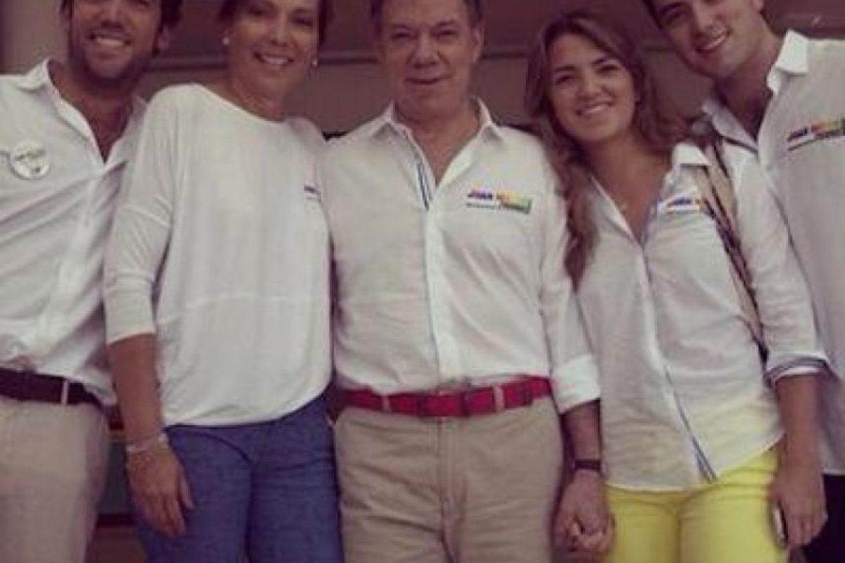 El Presidente Santos y familia Foto:Facebook: Juan Manuel Santos. Imagen Por: