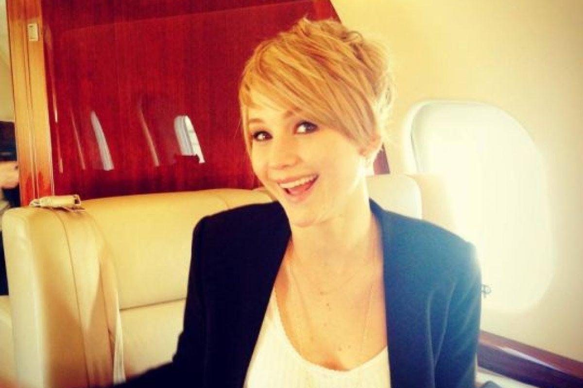 A pesar de usar aviones privados, ella no está acostumbrada a viajar con tantos lujos. Foto:Facebook/Jennifer Lawrence. Imagen Por: