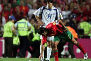 Figo había fichado recientemente por el Real Madrid. Foto:Getty Images. Imagen Por: