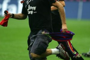 Jimmy ingresó al Bayern Múnich vs. Barcelona de la Franz Beckenbauer Cup. Foto:Getty Images. Imagen Por: