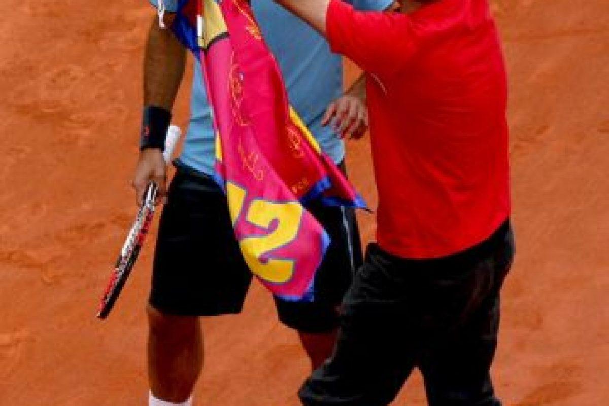 Federer lo tomó con tranquilidad y no se inmutó ante el español. Foto:Getty Images. Imagen Por: