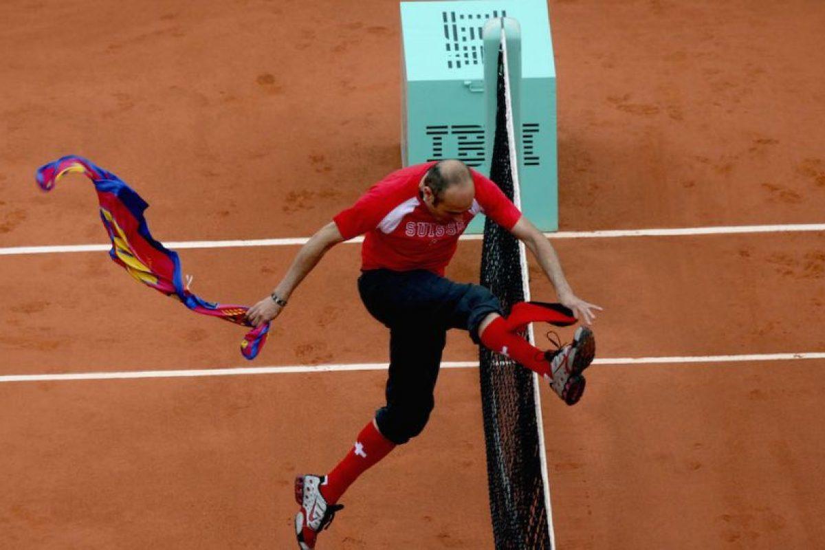 En 2009, Jimmy Jump hizo de las suyas en el torneo de tenis Roland Garros. Foto:Getty Images. Imagen Por: